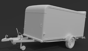 trailer camping tra 3D model