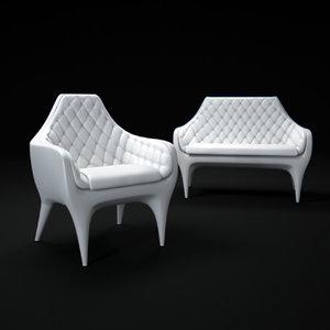 3d model showtime-indoor-sofa