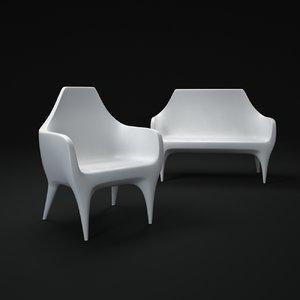 3d showtime outdoor sofa