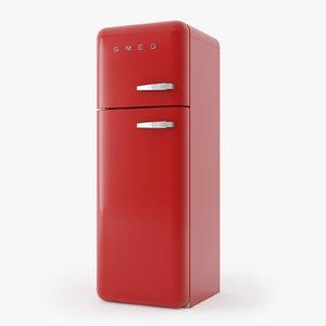 3d model of smeg refrigerator