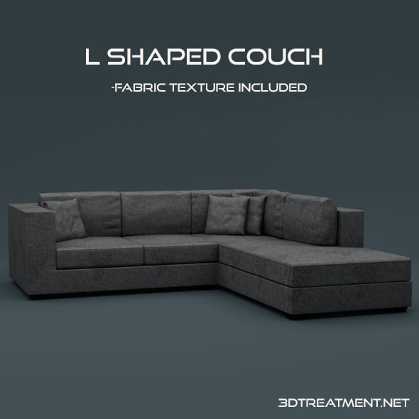 c4d l shaped couch