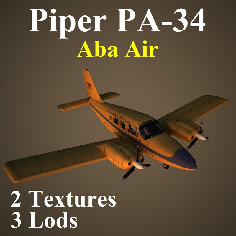 3d model piper seneca abp