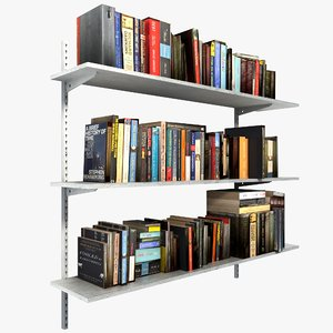 3d metal books