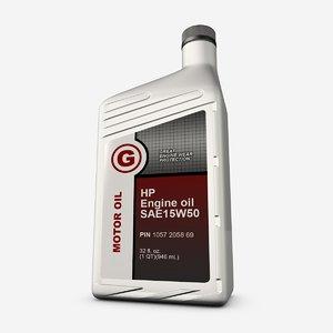 motor oil bottle 3d model