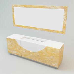 visionnaire caracalla marmo ipe 3d model