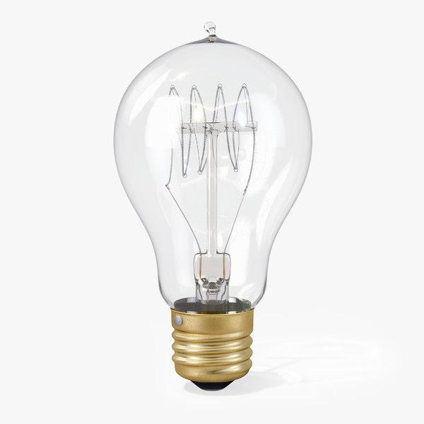 3d vintage spherical-shaped edison light bulb