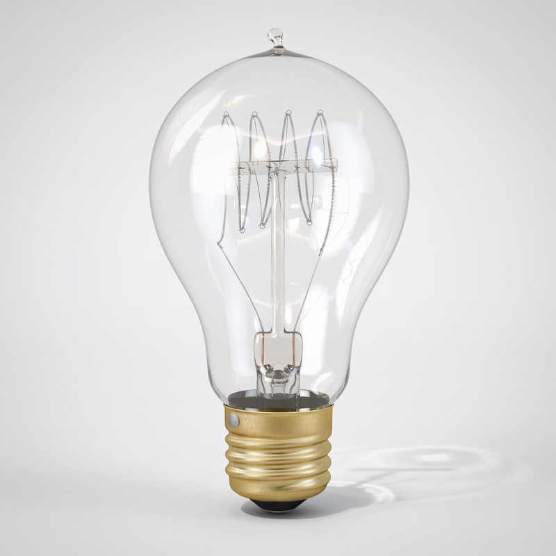3d vintage spherical-shaped edison light bulb