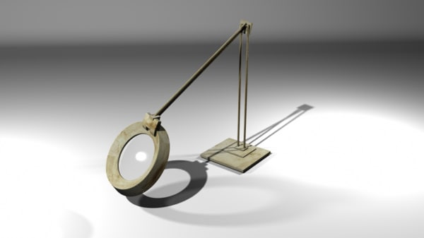 ma table-top magnifying glass lamp stand