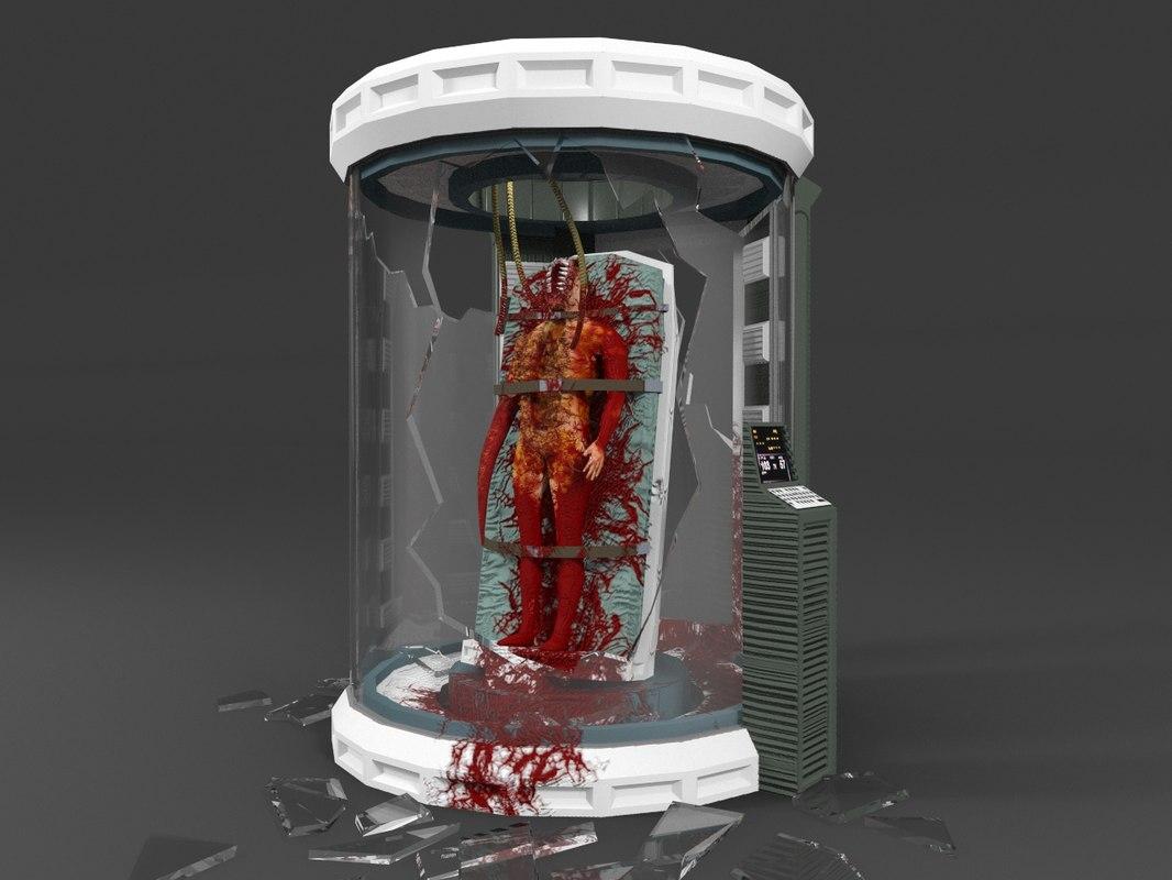 obj horror lab room creature