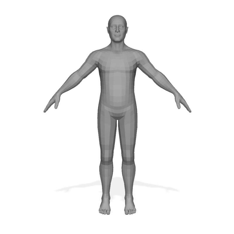 male body 3d ma