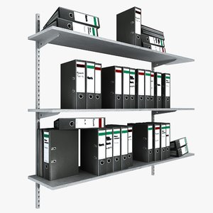 metal shelving ringbinder office 3ds