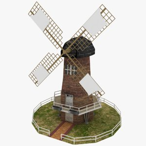 3d model windmill wind milling