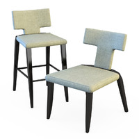 salsa dining chair 3d dxf
