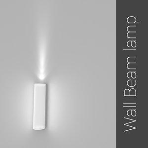 wall beam lamp ies light 3ds