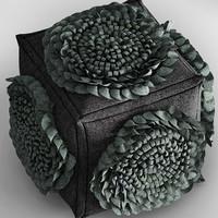 pouf flower 3d max