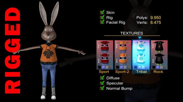 max cartoon rabbit