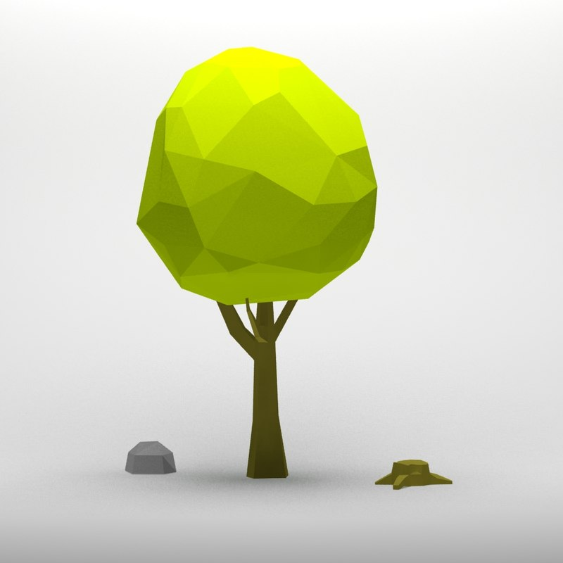 3d cartoon tree model