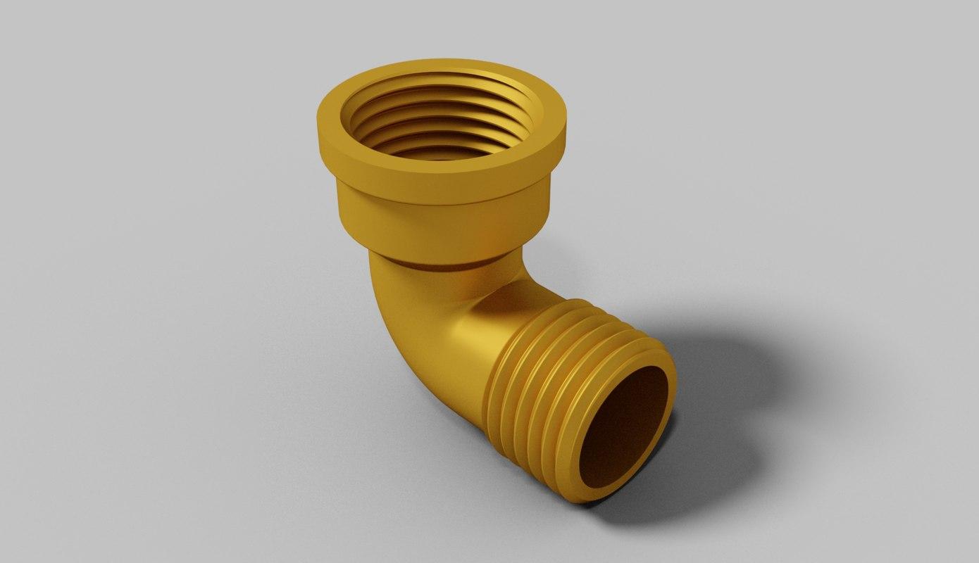 plumbing pipe 0 5 inch 3d obj