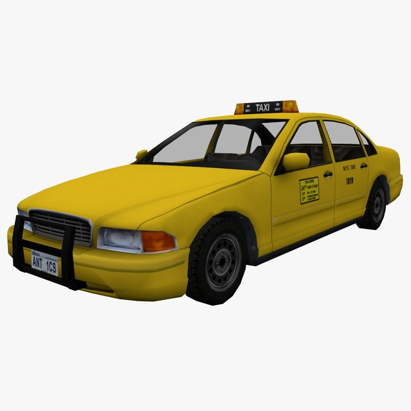 3d model new york taxi car