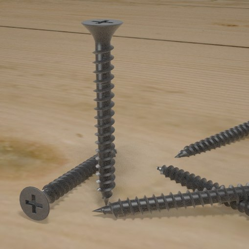 drywall screw 3d model