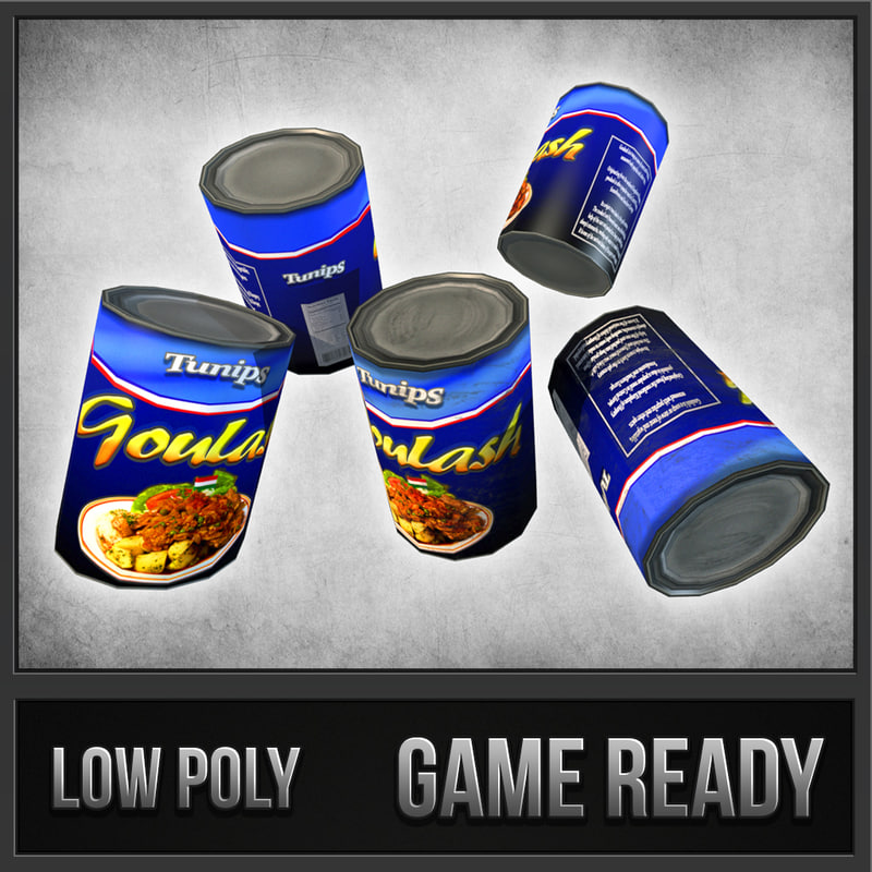 canned goulash 3d dwg
