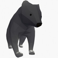 Bear Mishka Low Poly