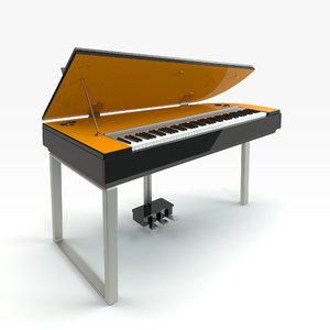 3d yamaha digital piano