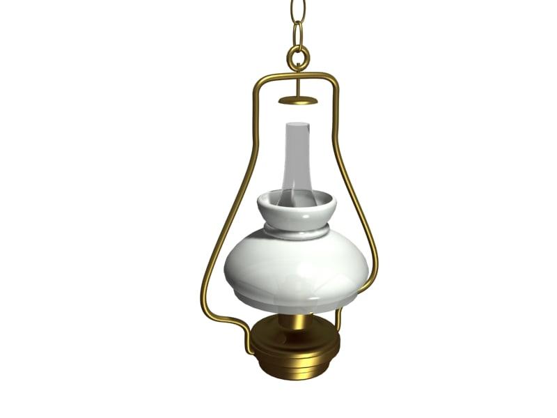 3d hanging oil lamp