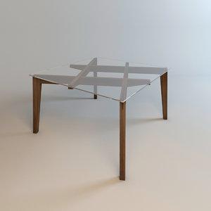 wood glass interior 3d model