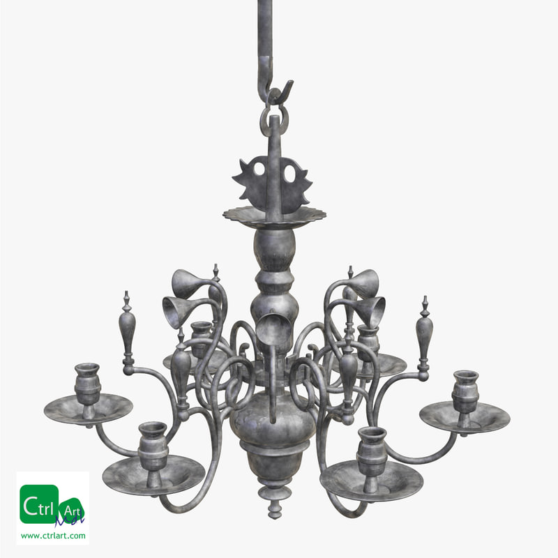 obj antique chandelier