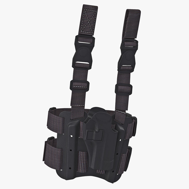 3d model tactical leg pistol holster