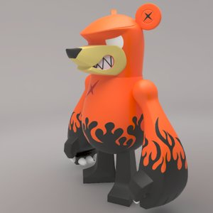 3ds max bear knuckle toy