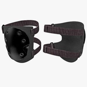 3d model tactical knee pads