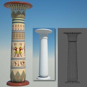 3d egyptian column egypt