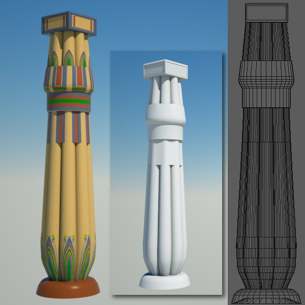 egyptian column egypt 3d model
