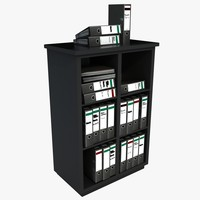 Office Filing Unit With Files