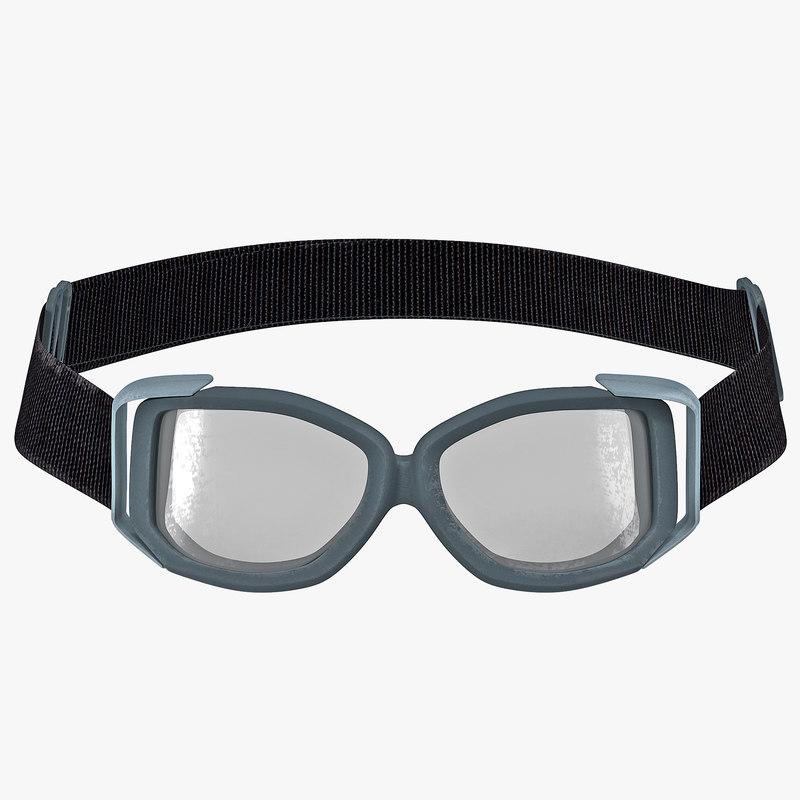 3d tactical goggle glasses model