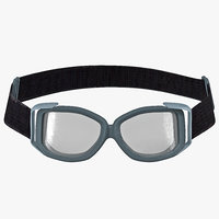 3d tactical goggle glasses model