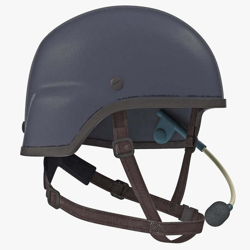 tactical helmet headset 3d model
