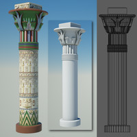 egyptian column egypt 3d obj