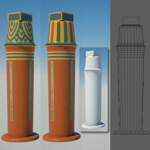 3d model egyptian column egypt