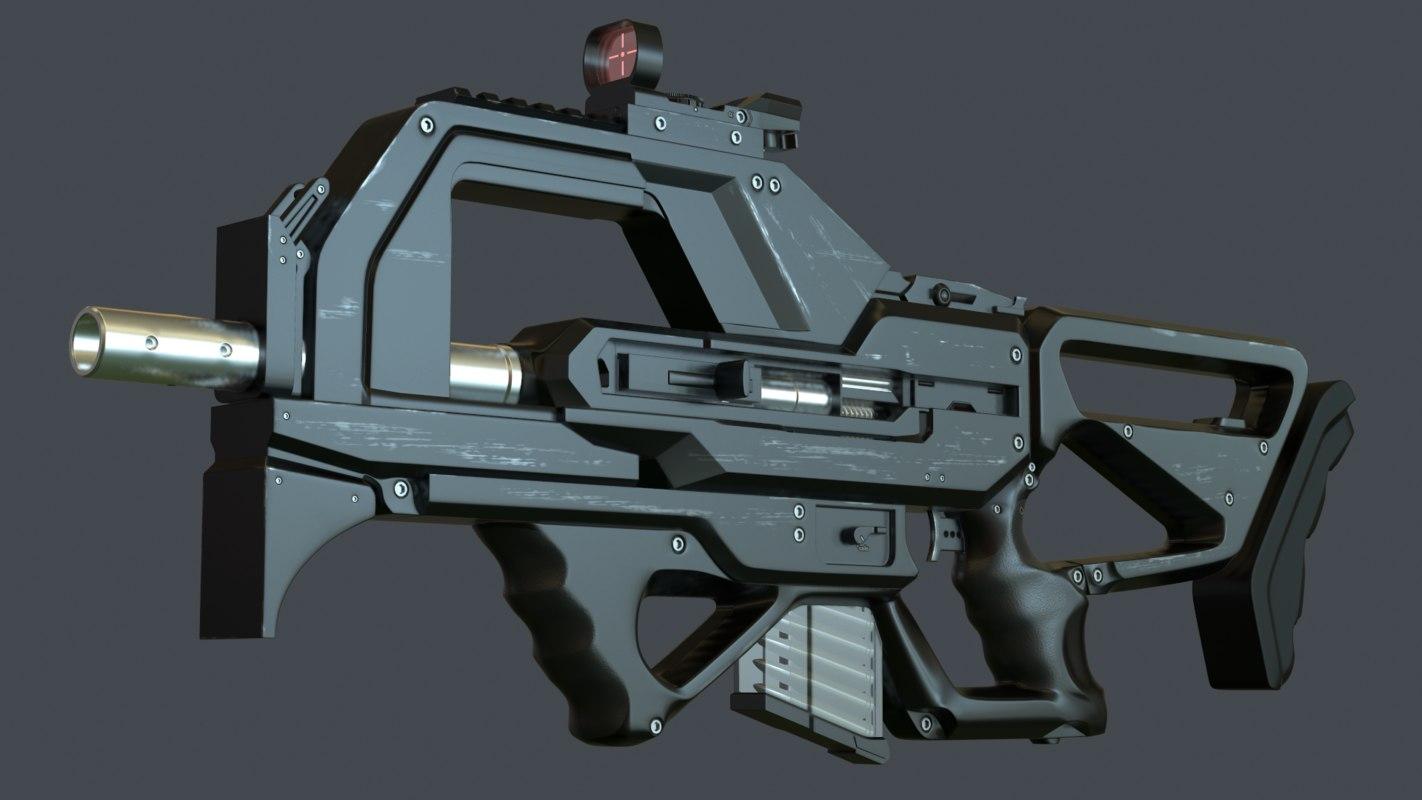 3d concept rifle