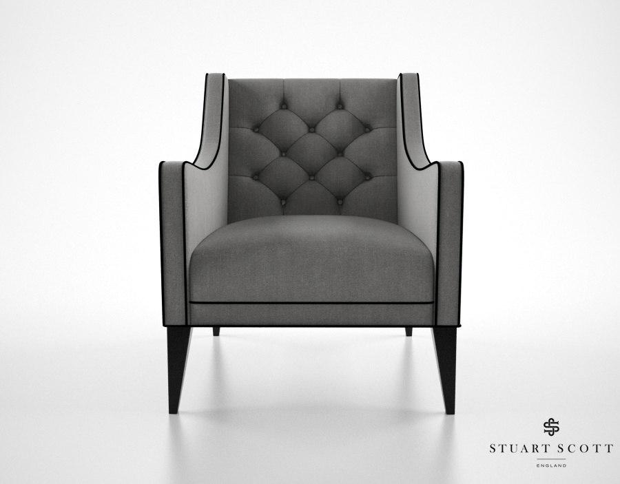 stuart scott sartor chair 3d model