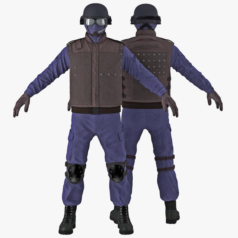 3d swat uniform