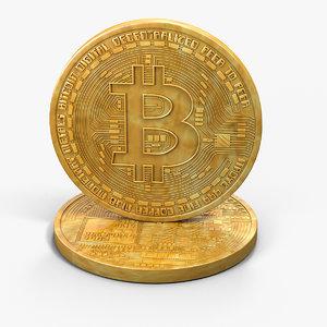 3d bitcoin coin model