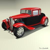 hot rod b 3d model