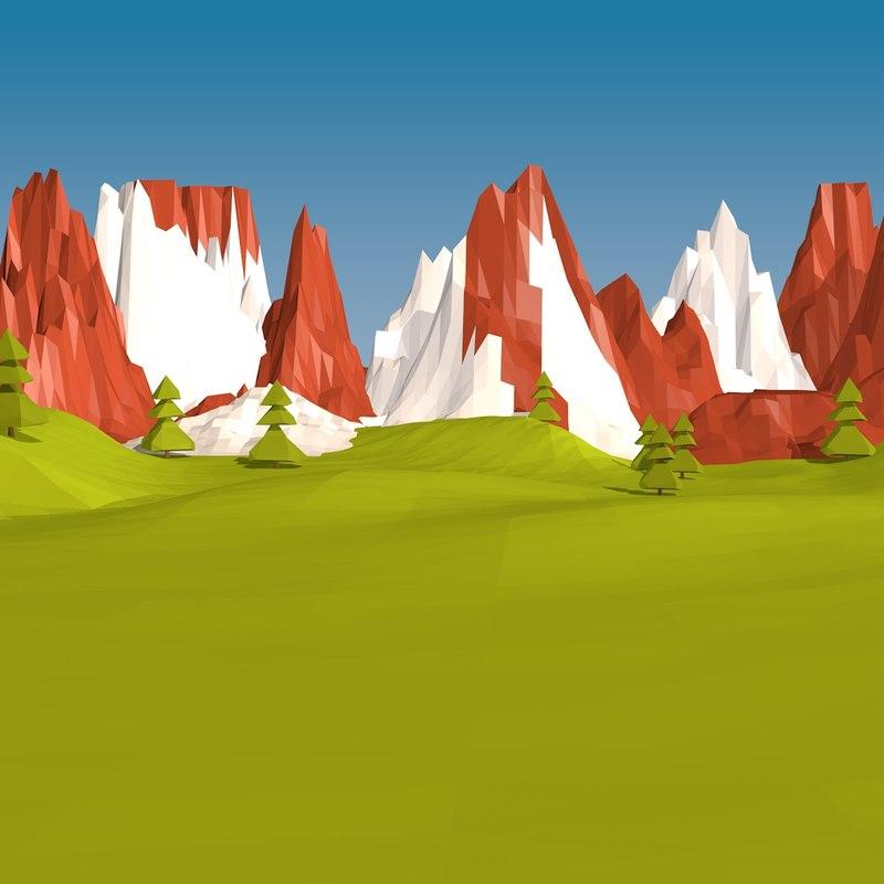 3d landscape land