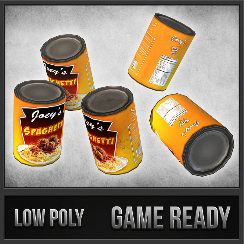 canned spaghetti 3d dxf