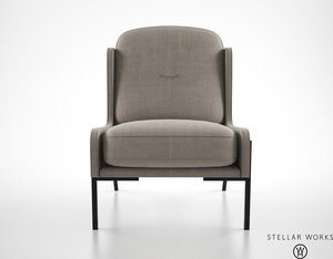 3ds max stellar works blink easy chair