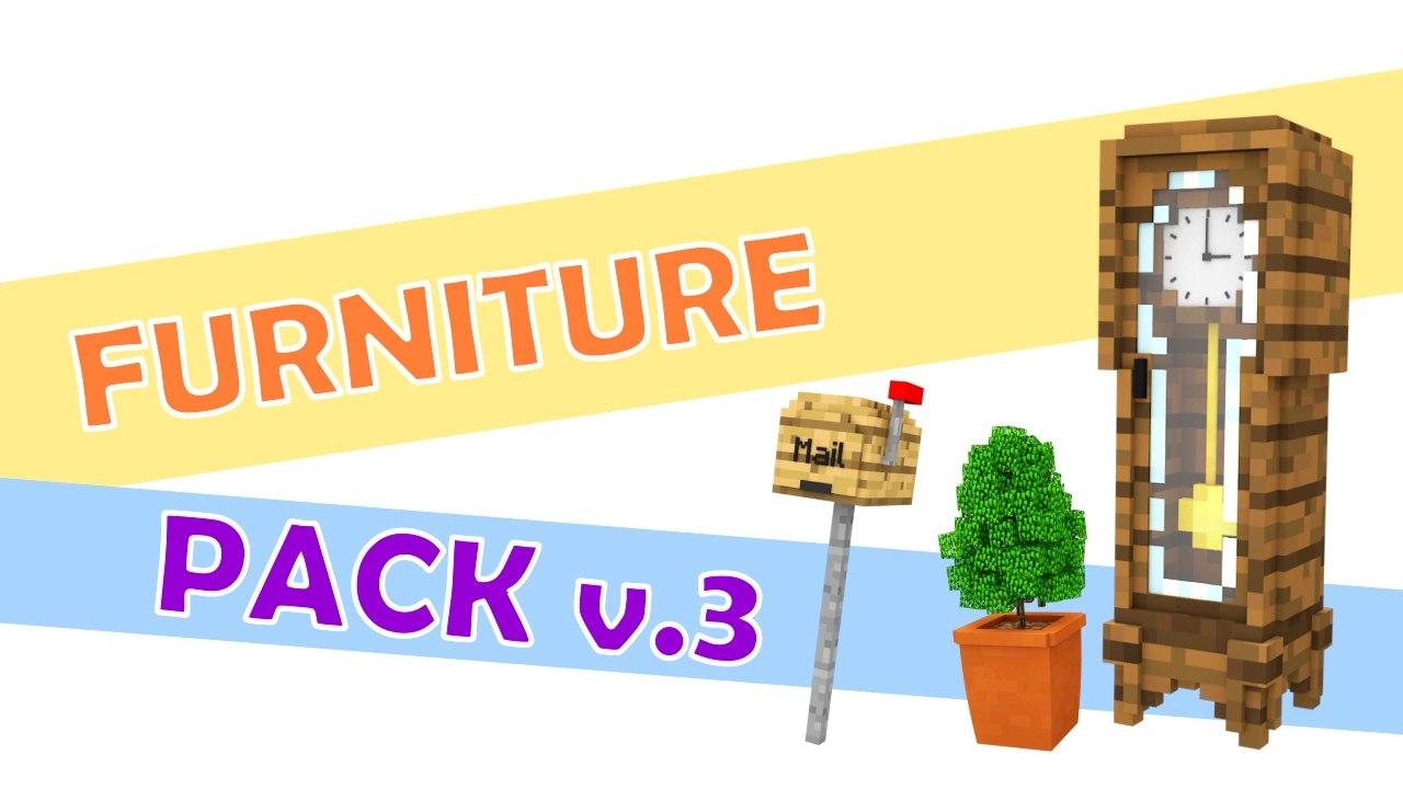 minecraft furniture pack 3d c4d